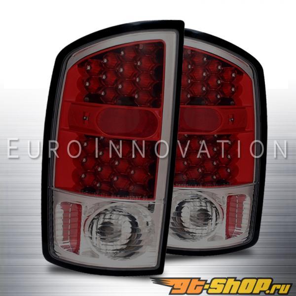 Задняя оптика на Dodge Ram 02-08 Красный Тёмный