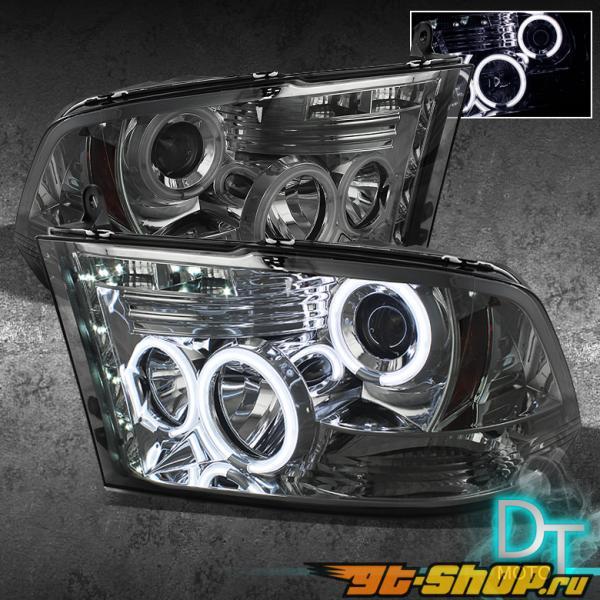Передняя оптика для Dodge Ram 09-12 CCFL HALO PROJECTOR Тёмный