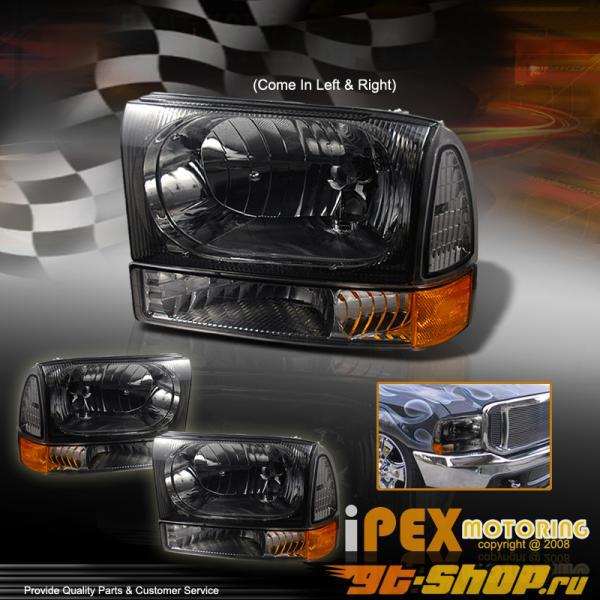 Передняя оптика на Ford Excursion 00-05 Тёмный