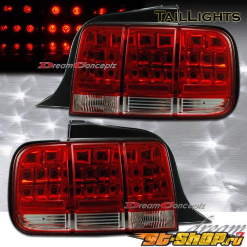 Задние фары для Ford Mustang 05-13 Красный CLEAR