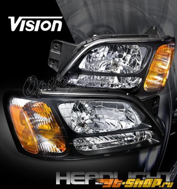 Передняя оптика на Subaru Legacy 00-04 Чёрный