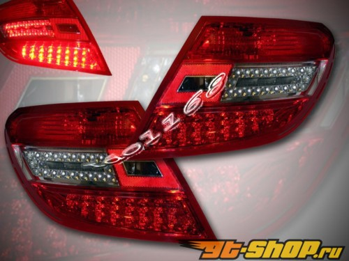 Задняя оптика на Mercedes C Class W204 08-12 Красный