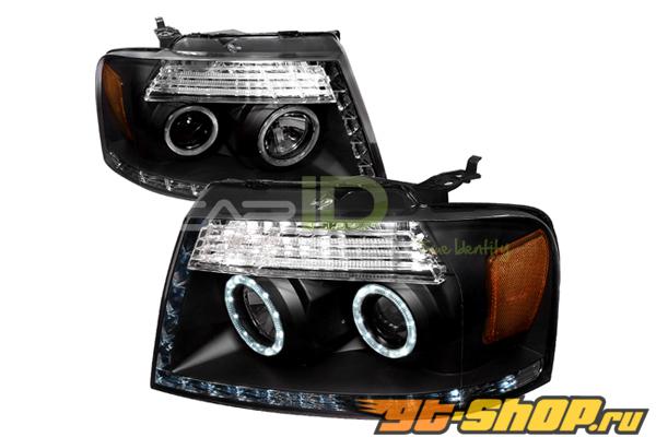 Передние фары для Ford F-150 05-08 Halo Projector Чёрный
