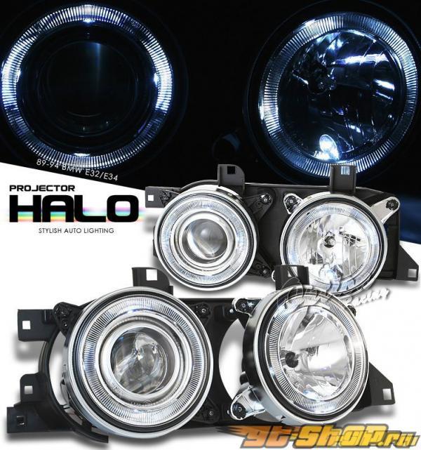 Передняя оптика для  BMW 89-95 HALO PROJECTOR Хром