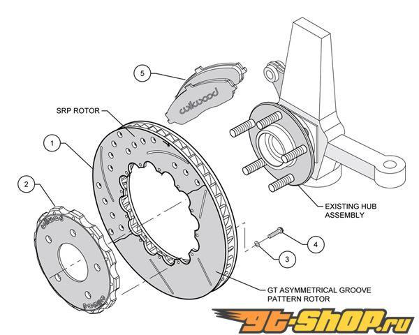 Wilwood Pro-Matrix Drilled передний  тормозной тормозные диски w/Pads Chevrolet Corvette ALL 97-04