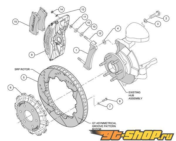 Wilwood TC6R 16 Inch передний  Большой тормозной комплект GMC Yukon 1500 00-06