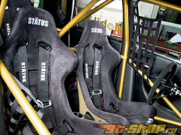 Status Racing Standard Ring Bucket Сидения Чёрный FRP Alcantara - FIA Approved