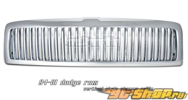 Решётка радиатора на Dodge Ram 94-01 VERTICAL Хром