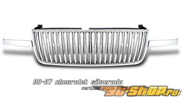 Решётка радиатора на Chevrolet Silverado 06-07 VERTICAL Хром