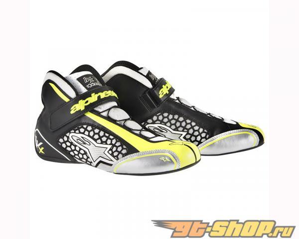 Alpinestars Tech 1-Kx Shoes 215 Белый Чёрный Жёлтый Flourescent