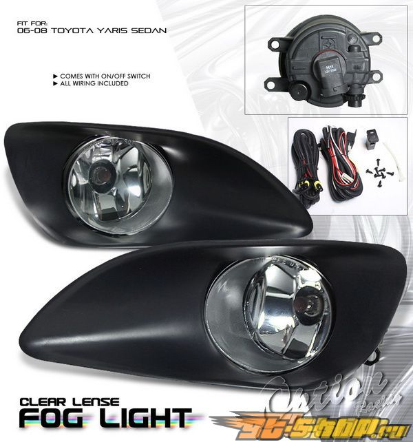 Противотуманная оптика для Toyota Yaris Седан 06-10 комплект