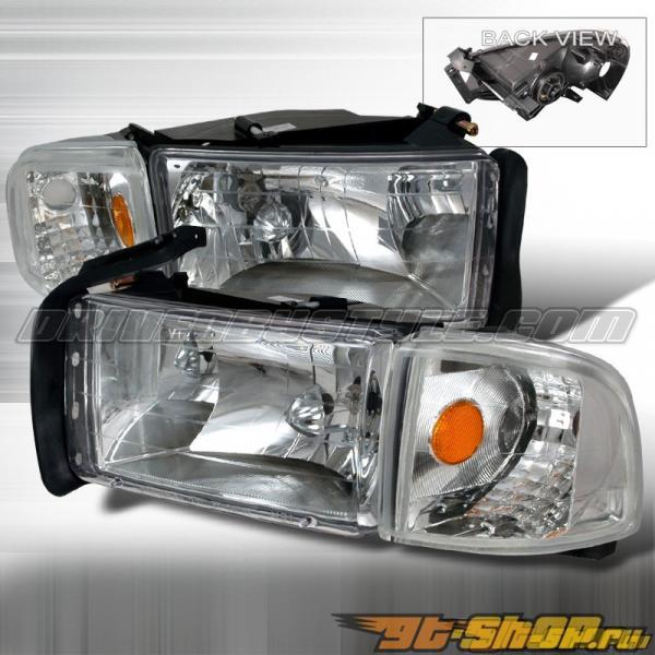 Передняя оптика на Dodge Ram 94-01 Хром: Spec-D