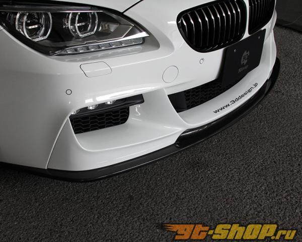 3D Design Карбоновый And Уретан Передняя губа Спойлер BMW 6 Series F06 | F12 | F13 M Sport 12-15