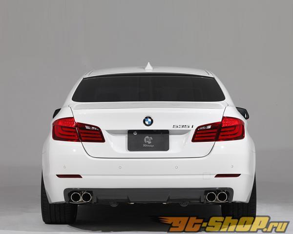 3D Design Карбоновый задний диффузор Quad Tip BMW 535i F10 11-15