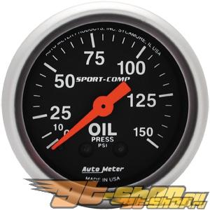 "AutoMeter 2"" давления масла, 0-150 Psi [ATM-3323]"