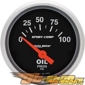"AutoMeter 52Mm (2-1/16"") давление масла, 0-7 Bars [ATM-3327-M]"