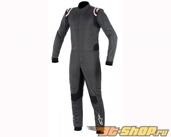 Alpinestars Supertech Suit 1431 Anthracite Чёрный Красный серебристый