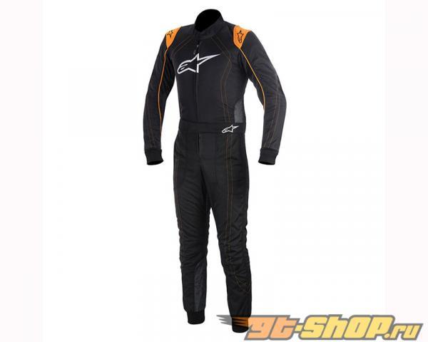 Alpinestars KMX-9 Suit 156 Чёрный Orange Flourescent