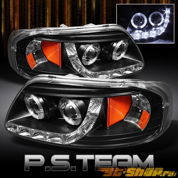 Передние фонари для Ford F150 97-03 DUAL HALO PROJECTOR Чёрный