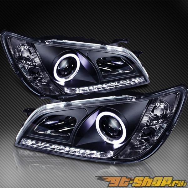 Передние фонари на Lexus IS300 01-05 DRL Halo Projector Чёрный