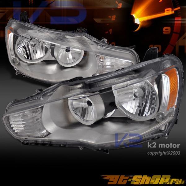 Передние фонари для MITSUBISHI LANCER EVO X 2008-2010 DEPO Хром