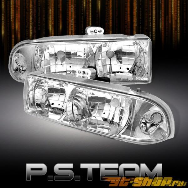 Передняя оптика на Chevrolet Blazer 00-04 Хром