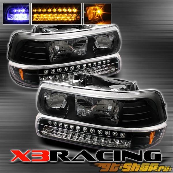 Передняя оптика для Chevrolet Tahoe 00-06 Чёрный