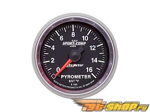 "Autometer Sport Comp II 2 1/16"" 0-1600 Degree Electric EGT Датчик"