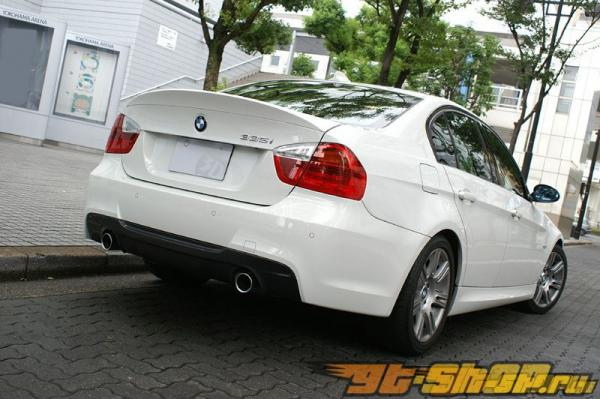 Задний диффузор из карбона под 2 глушителя 3D Design для BMW 3 Series E90 335i седан M-Sport 06+