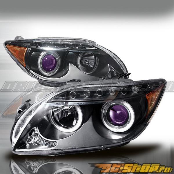 Передние фары для Scion tC 05-07 Halo Projector Чёрный : Spec-D