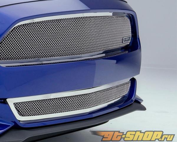 T-Rex Upper Class Series Polished нержавеющий Steel Mesh Main Решетка радиатора Ford Mustang GT 2015