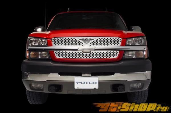 Вставки в решётку радиатора для Chevrolet Silverado 03-04 HD Punch with Wings Logo