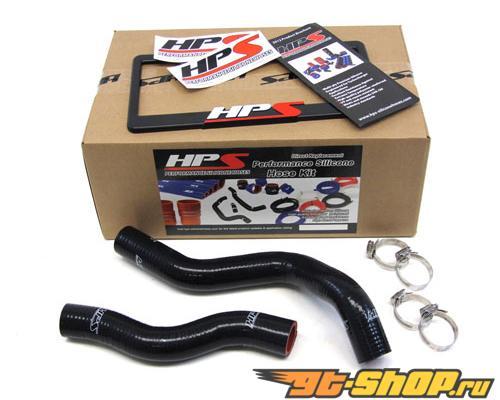 HPS Silicone силиконовые патрубки Чёрный для Honda 06-11 Civic Non Si R18A1 R16
