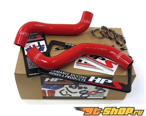 HPS Silicone силиконовые патрубки Красный для Toyota 00-02 Tacoma V6 3.4L Auto Trans.