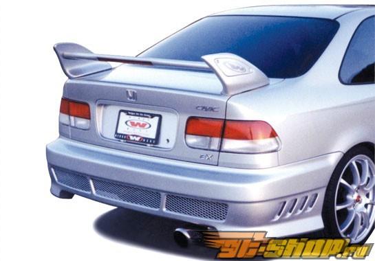 Спойлер для Honda Civic 1996-2000 Shark W/15.5/35 LED Light