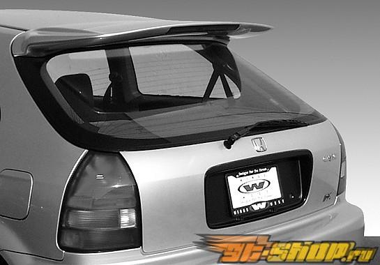 Спойлер на Honda Civic 1996-2000 Whaletail W/15.5/35 LED Light