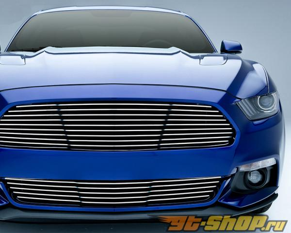 T-Rex Billet Grilles бампер Polished Решетка радиатора Ford Mustang GT 2015