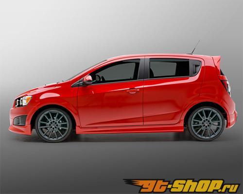 3dCarbon Левый Side Skirt Chevrolet Sonic седан | 5 Двери Hatchback 2012-13