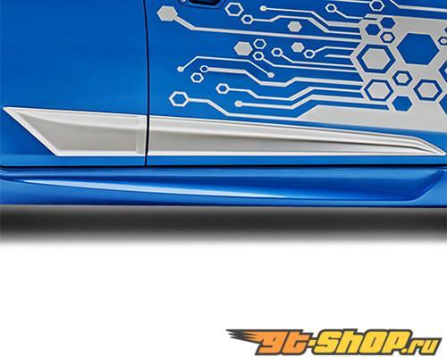 3dCarbon Правый Side Skirt Chevrolet Spark 2013