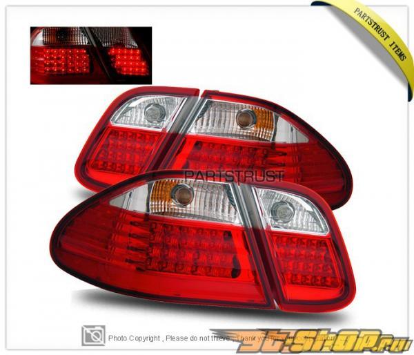 Задние фонари для Mercedes Benz W208 CLK  Class 98-02 Красный Clear