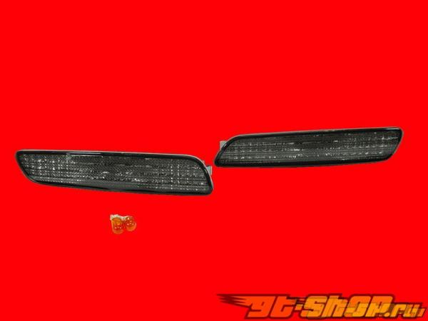 Поворотники в передний бампер на VOLVO S40 2001-2004 Тёмный