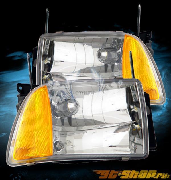 Передняя оптика для Chevrolet Blazer 95-97 Кристалл Хром Clear