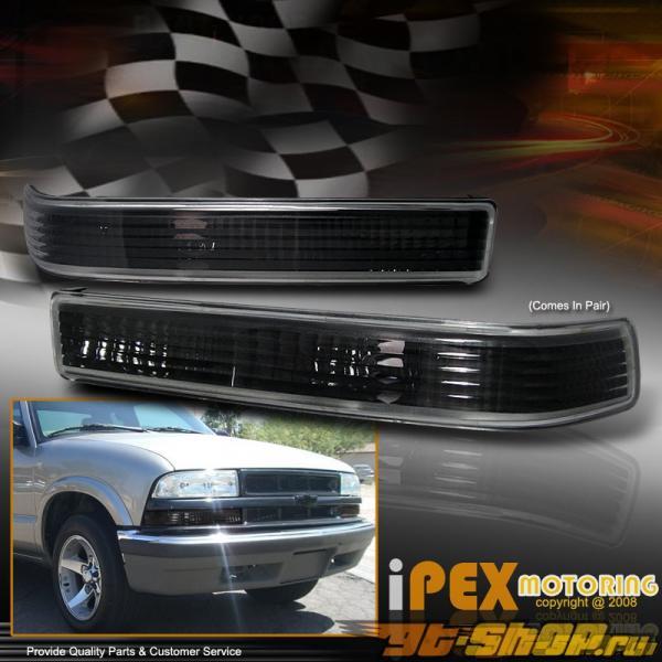 Поворотники фары для Chevrolet Blazer 00-05 Чёрный Clear