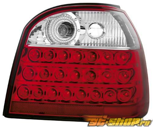 Задние фары на Volkswagen Golf 3 93-98 Красный/Кристалл 1
