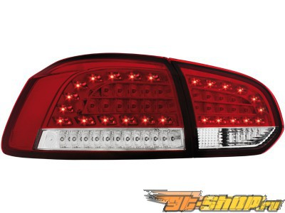 Задние фары для Volkswagen Golf 6 08-12 Красный/clear