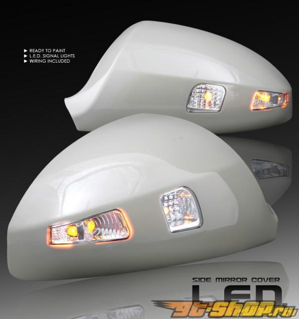 Накладки на зеркала с диодным поворотником подготовленные к покраске для Infiniti FX35|45 2003-2008
