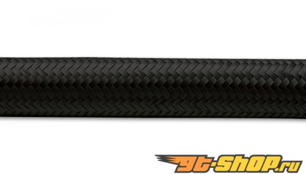 "20ft Roll of Чёрный Nylon Braided Flex Hose; AN Size: -6; Hose ID: 0.34"";"