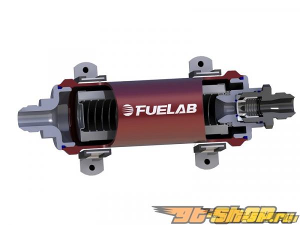 Fuelab 858 Series In-Line Fuel Filter with Check Valve : -10AN Inlet/Oulet #23957