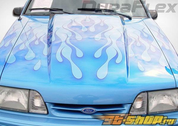 Пластиковый капот для Ford Mustang 87-93 Cowl Стиль
