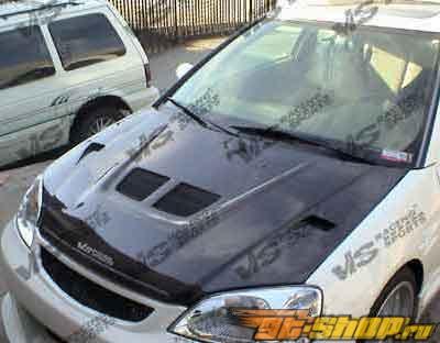 Карбоновый капот на Honda CRX 1988-1991 EVO Стиль